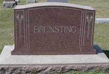 BRUNSTING, HEADSTONE - Sioux County, Iowa   HEADSTONE BRUNSTING