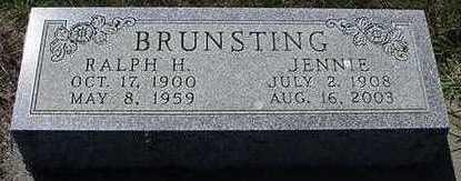 BRUNSTING, JENNIE - Sioux County, Iowa | JENNIE BRUNSTING