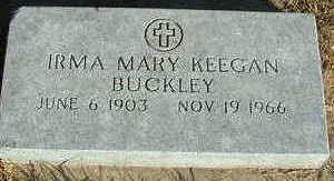 BUCKLEY, IRMA MARY - Sioux County, Iowa | IRMA MARY BUCKLEY