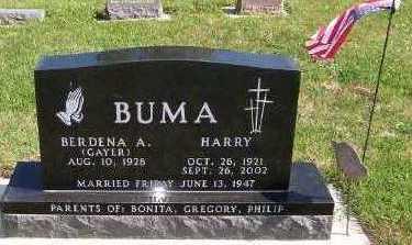 GAYER BUMA, BERDENA - Sioux County, Iowa | BERDENA GAYER BUMA