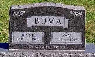 BUMA, JENNIE - Sioux County, Iowa | JENNIE BUMA