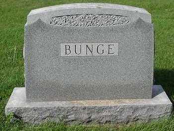 BUNGE, HEADSTONE - Sioux County, Iowa | HEADSTONE BUNGE