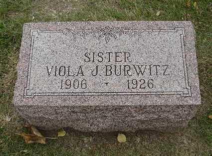 BURWITZ, VIOLA  J. - Sioux County, Iowa | VIOLA  J. BURWITZ