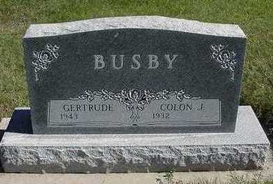 BUSBY, GERTRUDE (MRS. COLON) - Sioux County, Iowa | GERTRUDE (MRS. COLON) BUSBY