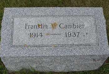 CAMBIER, FRANKLIN J. - Sioux County, Iowa   FRANKLIN J. CAMBIER