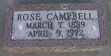 CAMPBELL, ROSE - Sioux County, Iowa | ROSE CAMPBELL