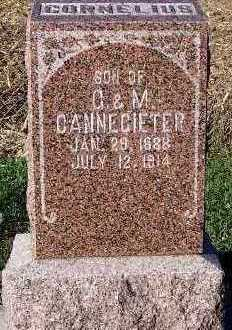 CANNIGIETER, CORNELIUS (SON OF C.&M.) - Sioux County, Iowa | CORNELIUS (SON OF C.&M.) CANNIGIETER
