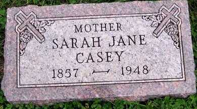 CASEY, SARAH JANE - Sioux County, Iowa | SARAH JANE CASEY