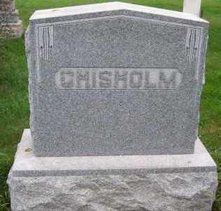 CHISHOLM, HEADSTONE - Sioux County, Iowa   HEADSTONE CHISHOLM