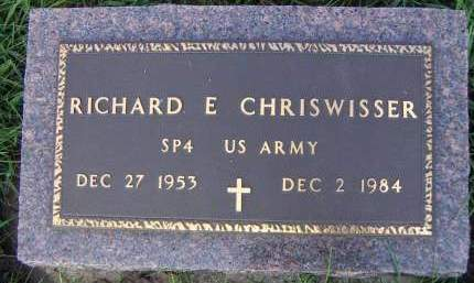 CHRISWISSER, RICHARD E. - Sioux County, Iowa | RICHARD E. CHRISWISSER