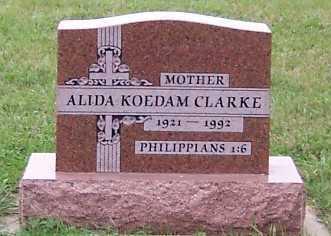KOEDAM CLARKE, ALIDA - Sioux County, Iowa | ALIDA KOEDAM CLARKE