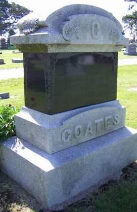 COATES, HEADSTONE - Sioux County, Iowa | HEADSTONE COATES