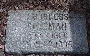 COLEMAN, C. BURGESS - Sioux County, Iowa | C. BURGESS COLEMAN