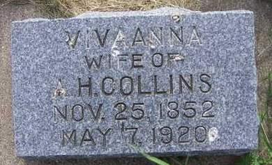 COLLINS, VIVAANNA (MRS. A.H.) - Sioux County, Iowa | VIVAANNA (MRS. A.H.) COLLINS
