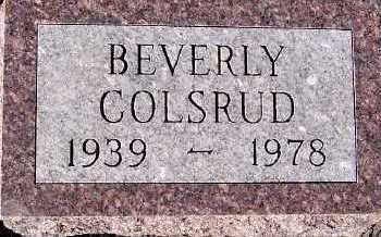 COLSRUD, BEVERLY - Sioux County, Iowa | BEVERLY COLSRUD