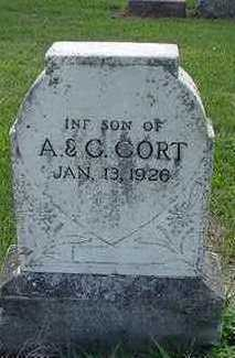 CORT, INFANT SON OF A. & C. - Sioux County, Iowa | INFANT SON OF A. & C. CORT