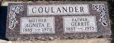 COULANDER, GERRIT - Sioux County, Iowa | GERRIT COULANDER