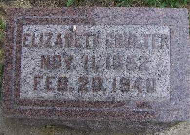 COULTER, ELIZABETH - Sioux County, Iowa | ELIZABETH COULTER