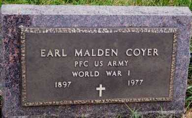 COYER, EARL MALDEN - Sioux County, Iowa | EARL MALDEN COYER