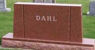 DAHL, HEADSTONE - Sioux County, Iowa | HEADSTONE DAHL