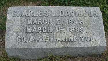 DAVIDSON, CHARLES L. - Sioux County, Iowa   CHARLES L. DAVIDSON