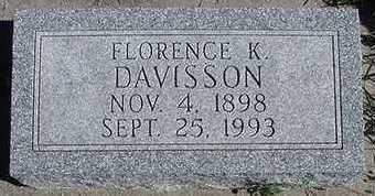 SHIPMAN DAVISSON, FLORENCE K. - Sioux County, Iowa | FLORENCE K. SHIPMAN DAVISSON