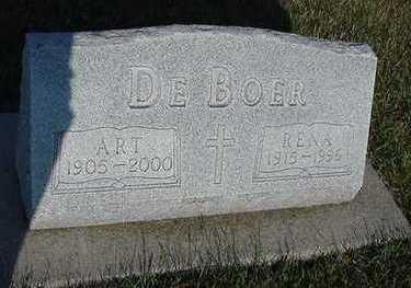 DEBOER, RENA (MRS. ART) - Sioux County, Iowa | RENA (MRS. ART) DEBOER