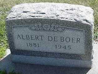 DEBOER, ALBERT - Sioux County, Iowa | ALBERT DEBOER