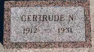 DEBOER, GERTRUDE N. - Sioux County, Iowa   GERTRUDE N. DEBOER