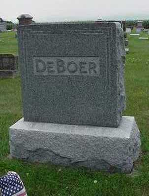 DEBOER, HEADSTONE - Sioux County, Iowa | HEADSTONE DEBOER