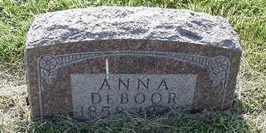 DEBOOR, ANNA - Sioux County, Iowa   ANNA DEBOOR