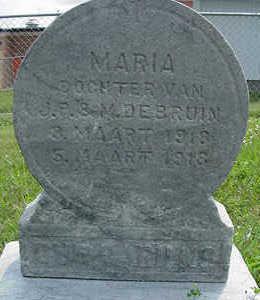DEBRUIN, MARIA - Sioux County, Iowa | MARIA DEBRUIN