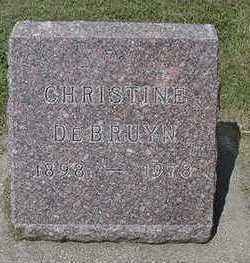 DEBRUYN, CHRISTINE - Sioux County, Iowa | CHRISTINE DEBRUYN