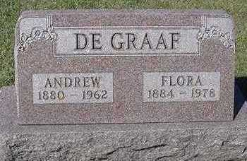 DEGRAAF, FLORA (MRS. ANDREW) - Sioux County, Iowa | FLORA (MRS. ANDREW) DEGRAAF