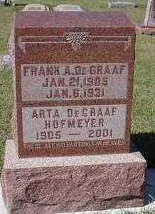 HOFMEYER DEGRAAF, ARTA  (MRS. FRANK) - Sioux County, Iowa | ARTA  (MRS. FRANK) HOFMEYER DEGRAAF