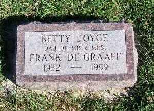 DEGRAAFF, BETTY JOYCE - Sioux County, Iowa | BETTY JOYCE DEGRAAFF