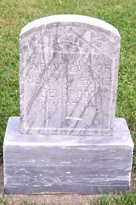 DEGROOT, INF. DAU. OF HENRY & JENNIE - Sioux County, Iowa | INF. DAU. OF HENRY & JENNIE DEGROOT