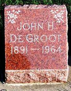 DEGROOT, JOHN H. - Sioux County, Iowa   JOHN H. DEGROOT