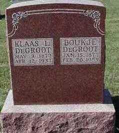 DEGROOT, KLAAS J. - Sioux County, Iowa   KLAAS J. DEGROOT