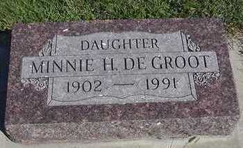 DEGROOT, MINNIE H. - Sioux County, Iowa | MINNIE H. DEGROOT
