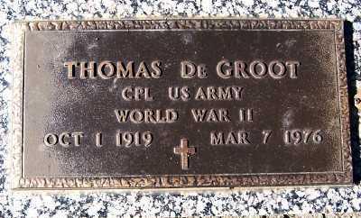 DEGROOT, THOMAS - Sioux County, Iowa   THOMAS DEGROOT
