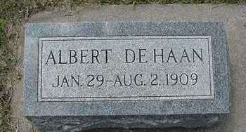 DEHAAN, ALBERT D.1909 - Sioux County, Iowa | ALBERT D.1909 DEHAAN