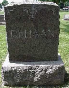 DEHAAN, HEADSTONE - Sioux County, Iowa   HEADSTONE DEHAAN