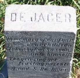DEJAGER, CHILDREN OF A. & S. - Sioux County, Iowa | CHILDREN OF A. & S. DEJAGER