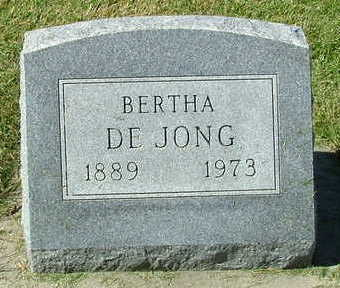 DEJONG, BERTHA - Sioux County, Iowa | BERTHA DEJONG