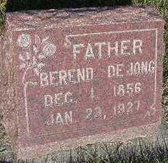 DEJONG, BAREND - Sioux County, Iowa   BAREND DEJONG