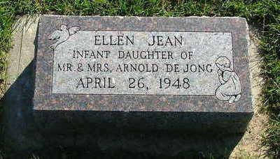 DEJONG, ELLEN JEAN - Sioux County, Iowa | ELLEN JEAN DEJONG