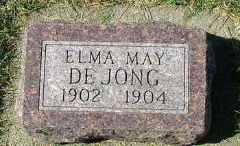 DEJONG, ELMA MAY - Sioux County, Iowa | ELMA MAY DEJONG