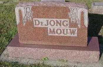 DEJONG, HEADSTONE - Sioux County, Iowa   HEADSTONE DEJONG