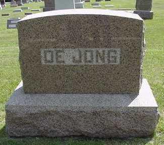 DEJONG, HEADSTONE - Sioux County, Iowa | HEADSTONE DEJONG